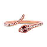 Load image into Gallery viewer, DIAMOND AND RUBY SNAKE RING