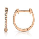 Load image into Gallery viewer, DIAMOND HUGGIE EARRING