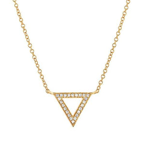 DIAMOND TRIANGLE NECKLACE - MICHAEL K. JEWELERS