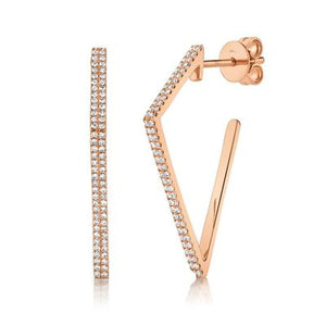 GEOMETRIC SHAPE DIAMOND EARRING