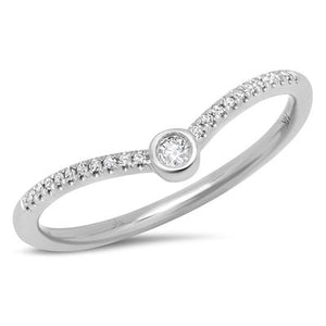 CHEVRON DIAMOND RING - MICHAEL K. JEWELERS