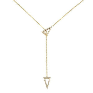 TRIANGLE LARIAT DIAMOND NECKLACE - MICHAEL K. JEWELERS