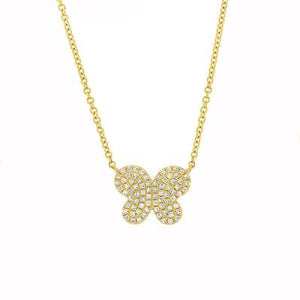 DIAMOND PAVE BUTTERFLY NECKLACE