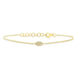 SPHERE SHAPED DIAMOND PAVE BRACELET