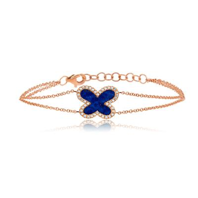 DIAMOND AND LAPIS BUTTERFLY BRACELET