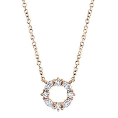 ROUND AND MARQUISE DIAMOND NECKLACE