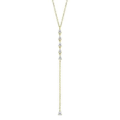 DIAMOND PEAR LARIAT NECKLACE