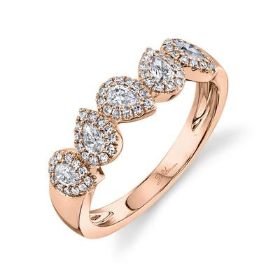 PEAR SHAPED HALO DIAMOND BAND