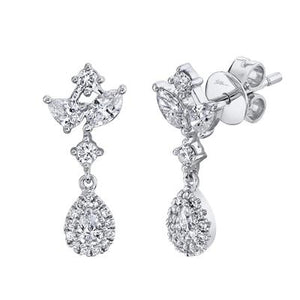 PEAR SHAPE DIAMOND DROP EARRING