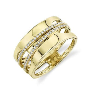MODERN GOLD AND DIAMOND RING