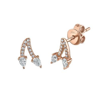PEAR STUD DIAMOND EARRING