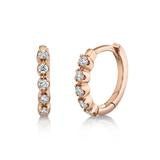 Load image into Gallery viewer, FIVE DIAMOND HUGGIE EARRING