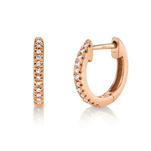 GOLD DIAMOND HOOP EARRINGS - MICHAEL K. JEWELERS