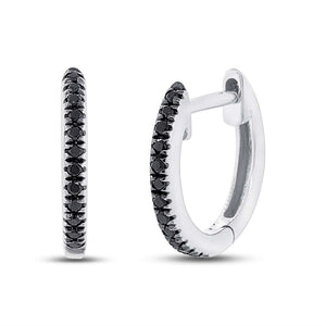 BLACK DIAMOND HOOP EARRING - MICHAEL K. JEWELERS