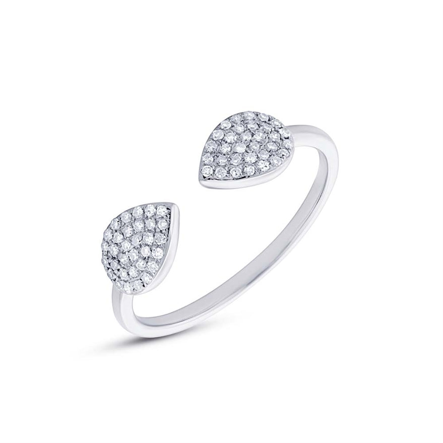 PEAR SHAPED OPEN DIAMOND RING - MICHAEL K. JEWELERS