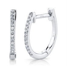 Load image into Gallery viewer, WHITE GOLD DIAMOND HOOP EARRING - MICHAEL K. JEWELERS