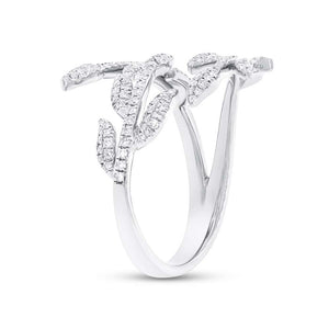 DIAMOND LEAF RING - MICHAEL K. JEWELERS