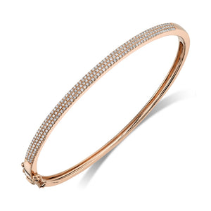ROSE GOLD DIAMOND BANGLE - MICHAEL K. JEWELERS