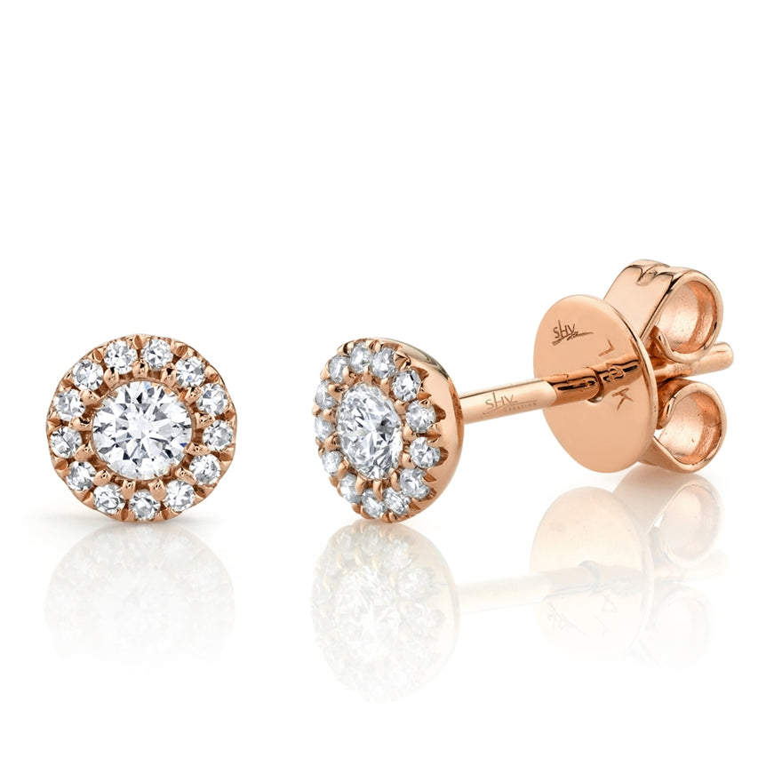 HALO DIAMOND STUD EARRING - MICHAEL K. JEWELERS