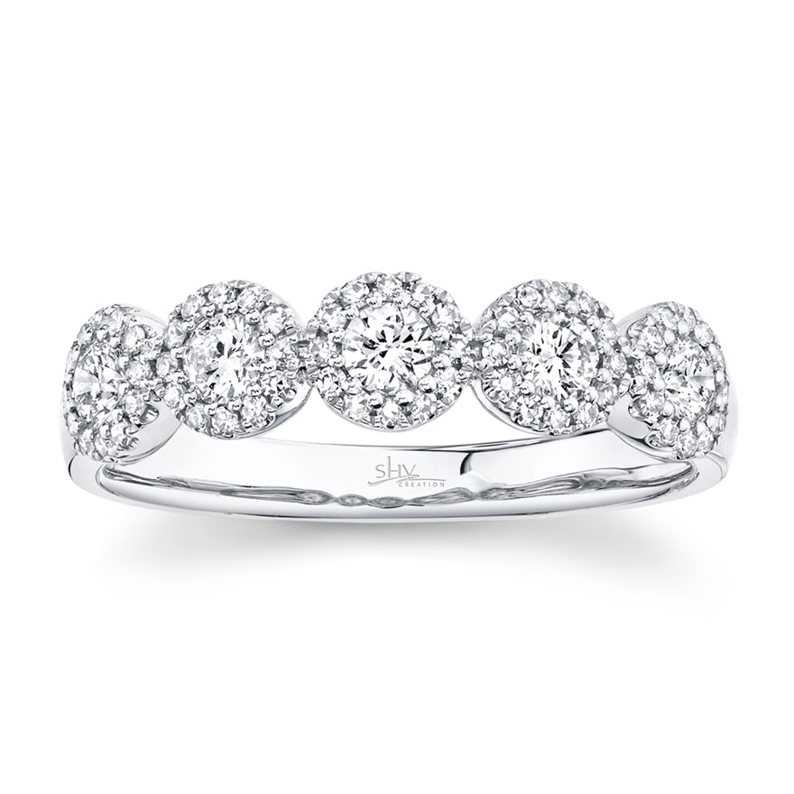 WHITE GOLD DIAMOND BAND - MICHAEL K. JEWELERS