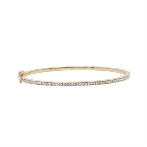 SMALL DIAMOND BANGLE - MICHAEL K. JEWELERS