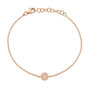 ROSE GOLD DIAMOND PAVE CIRCLE BRACELET - MICHAEL K. JEWELERS