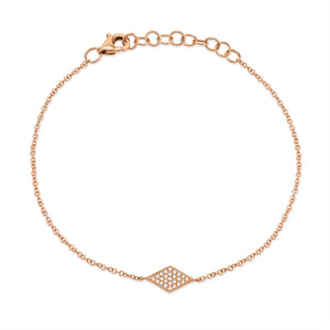 14K GOLD PAVE DIAMOND BRACELET - MICHAEL K. JEWELERS