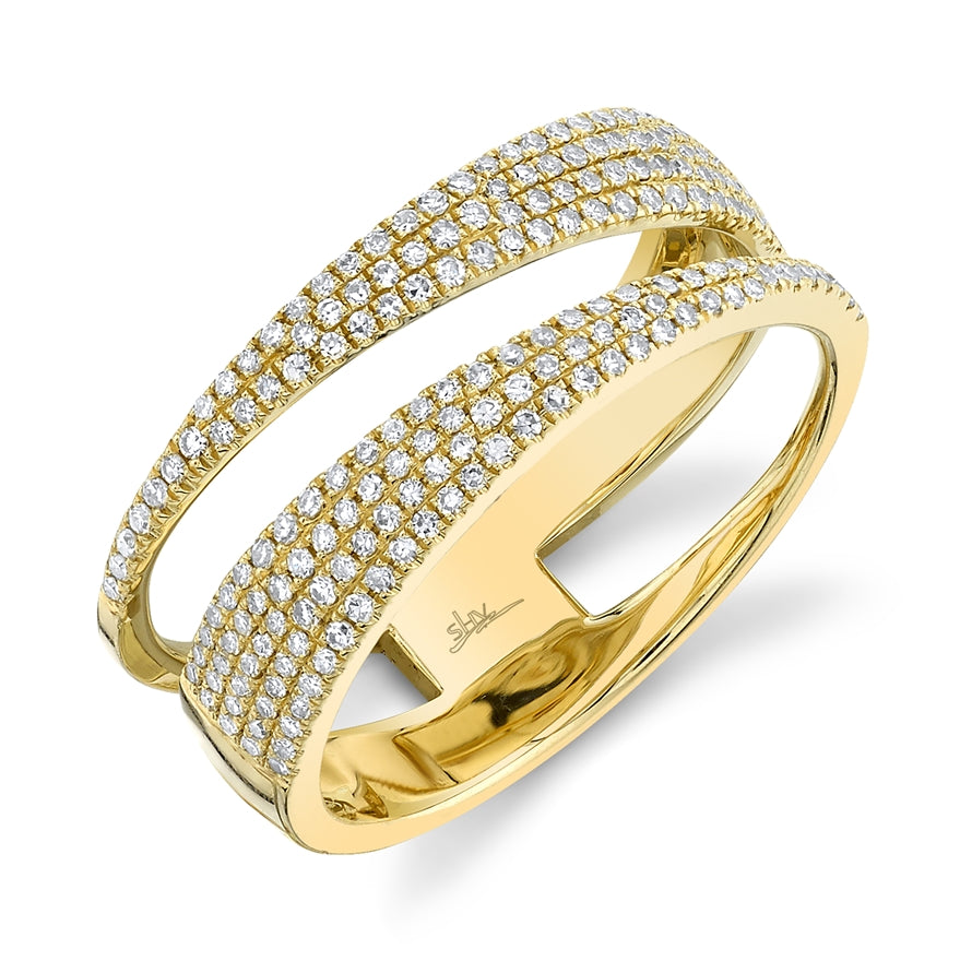 OPEN WRAP DIAMOND PAVE RING - MICHAEL K. JEWELERS