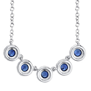 DIAMOND AND BLUE SAPPHIRE NECKLACE - MICHAEL K. JEWELERS