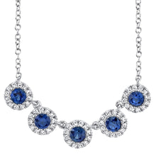 Load image into Gallery viewer, DIAMOND AND BLUE SAPPHIRE NECKLACE - MICHAEL K. JEWELERS