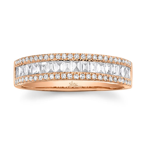 DIAMOND RING WITH BAGUETTE - MICHAEL K. JEWELERS