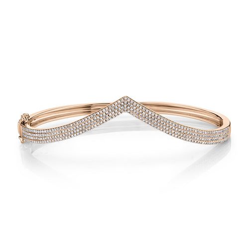 ROSE GOLD DIAMOND PAVE BANGLE - MICHAEL K. JEWELERS
