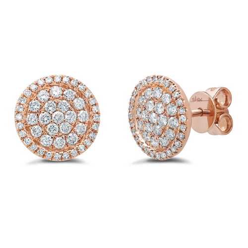 DIAMOND PAVE CIRCLE STUD EARRING - MICHAEL K. JEWELERS