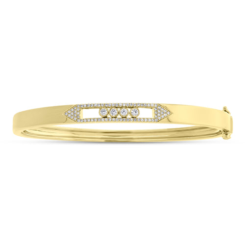 DIAMOND SLIDER BANGLE - MICHAEL K. JEWELERS