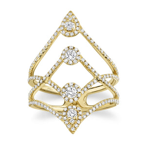 4 ROW DIAMOND FASHION RING - MICHAEL K. JEWELERS