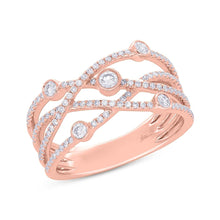 Load image into Gallery viewer, ROSE GOLD DIAMOND ORBIT RING - MICHAEL K. JEWELERS