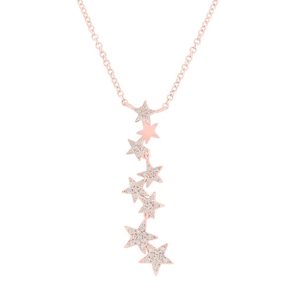 ROSE GOLD DIAMOND STAR NECKLACE - MICHAEL K. JEWELERS