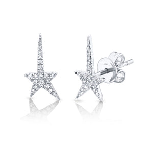 SHOOTING STAR DIAMOND STUD EARRING - MICHAEL K. JEWELERS