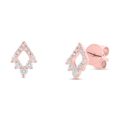 DIAMOND SHAPED STUD EARRINGS - MICHAEL K. JEWELERS