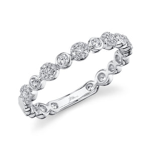 BEZEL AND PRONG SET DIAMOND BAND - MICHAEL K. JEWELERS