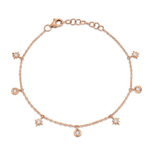 ROSE GOLD DIAMOND STAR BRACELET - MICHAEL K. JEWELERS