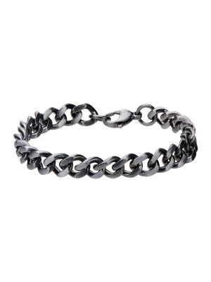 STAINLESS STEEL GUN METAL BRACELET - MICHAEL K. JEWELERS