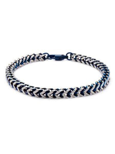 STEEL BLUE PLATED CHAIN BRACELET - MICHAEL K. JEWELERS