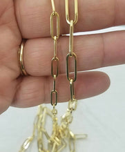 Load image into Gallery viewer, PAPER CLIP GOLD CHAIN NECKLACE - MICHAEL K. JEWELERS