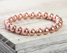 Load image into Gallery viewer, 10 MM ROSE GOLD-FILLED BEAD BRACELET - MICHAEL K. JEWELERS