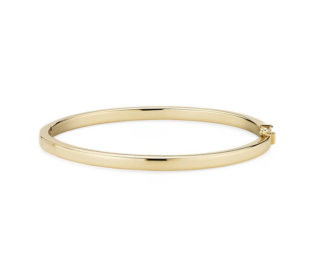 PLAIN 14K YELLOW GOLD BANGLE - MICHAEL K. JEWELERS