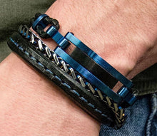 Load image into Gallery viewer, STEEL BLUE PLATED CHAIN BRACELET - MICHAEL K. JEWELERS