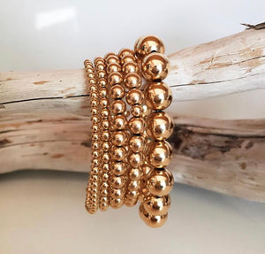 10 MM ROSE GOLD-FILLED BEAD BRACELET - MICHAEL K. JEWELERS