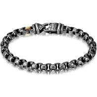 ANTIQUED STYLE ROUND BOX LINK BRACELET - MICHAEL K. JEWELERS