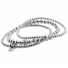 Load image into Gallery viewer, PLAIN SILVER GOLD-FILLED BEAD BRACELET - MICHAEL K. JEWELERS